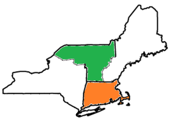 Vermont and Massachussets