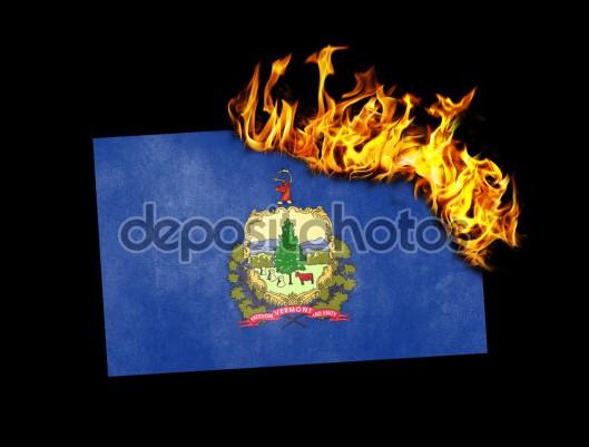 Flag burning - Vermont