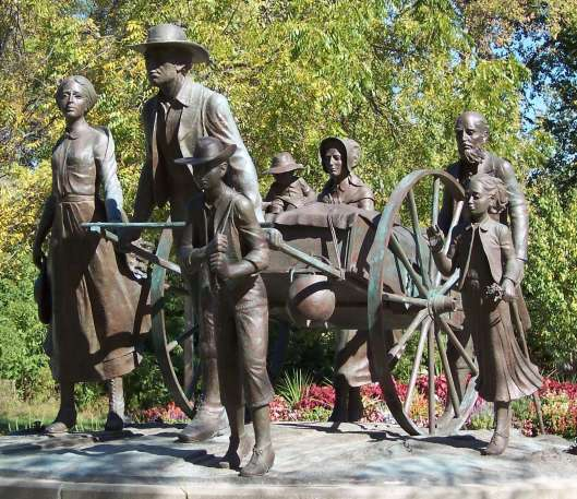On July 24, 1847, the Mormon Pioneers entered the Salt Lake Valley